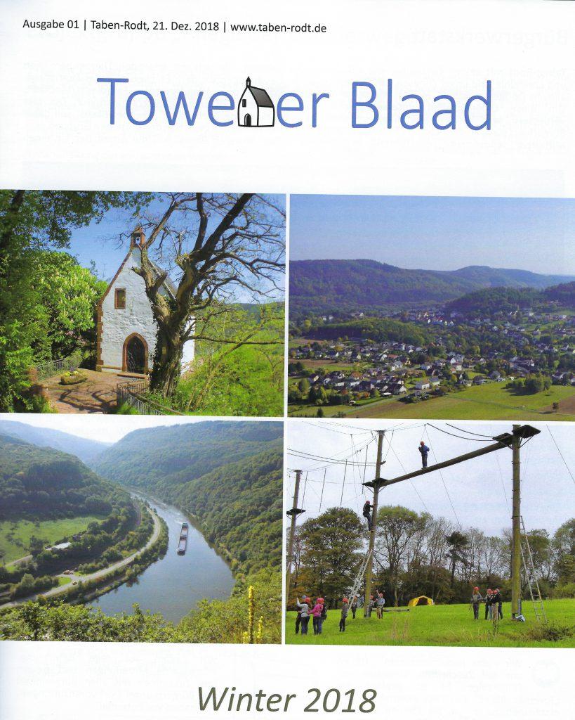 Towener Blaad, Titelseite Ausgabe Winter 2018