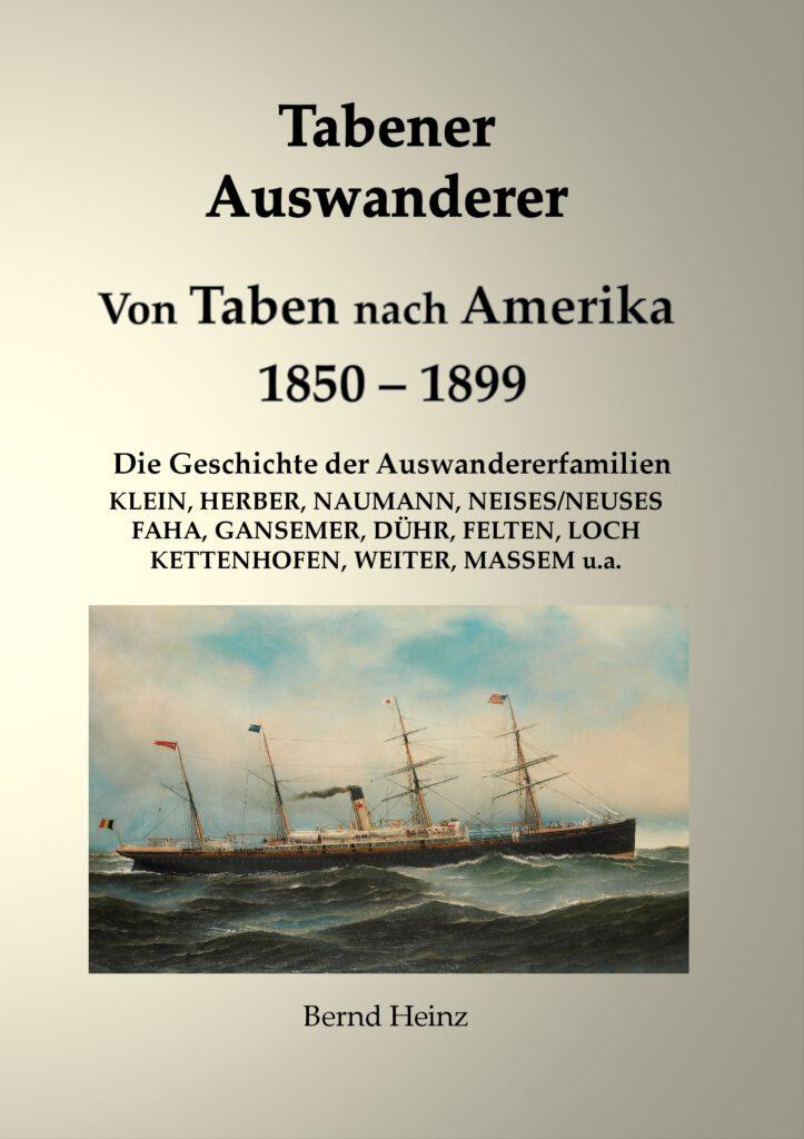 Buch Tabener Auswanderer - Von Taben nach Amerika 1850-1899