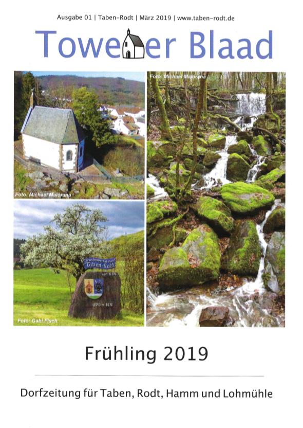 Towener Blaad, Titelseite Ausgabe Frühling 2019