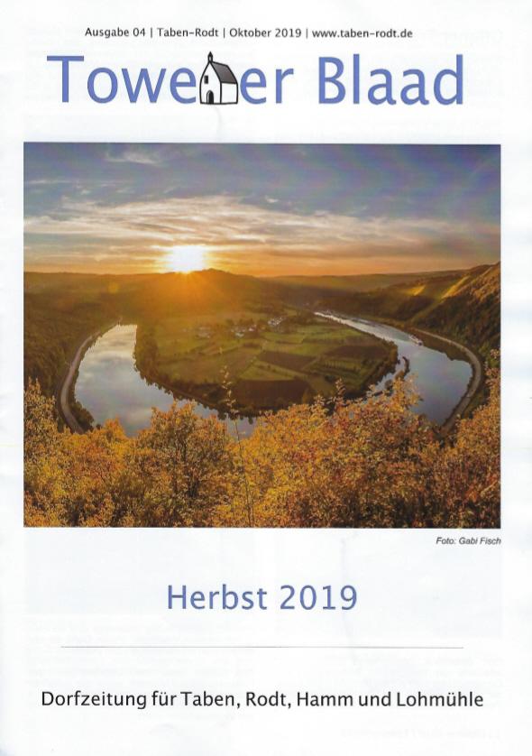 Towener Blaad, Titelseite Ausgabe Herbst 2019