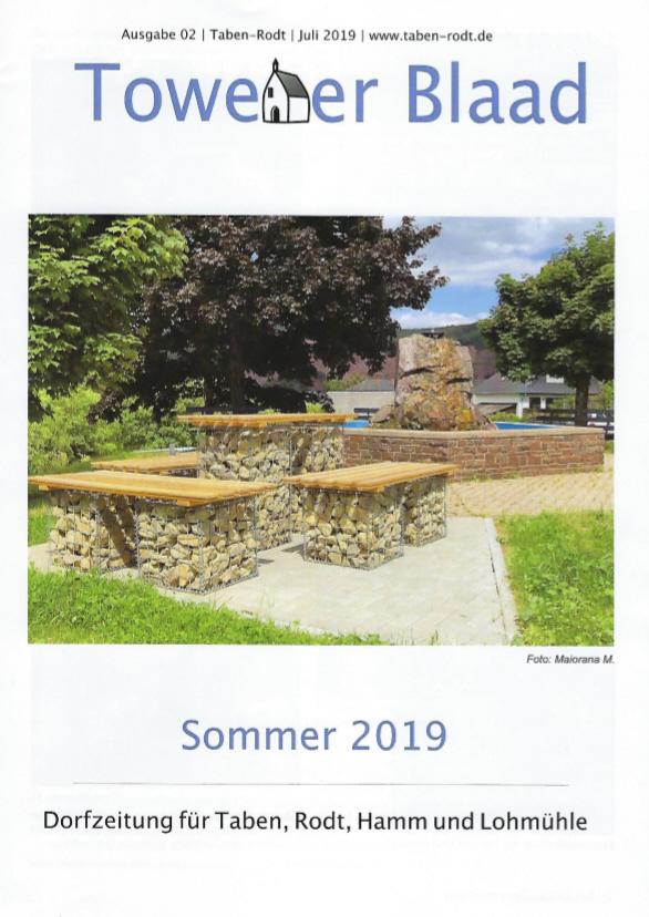 Towener Blaad, Titelseite Ausgabe Sommer 2019