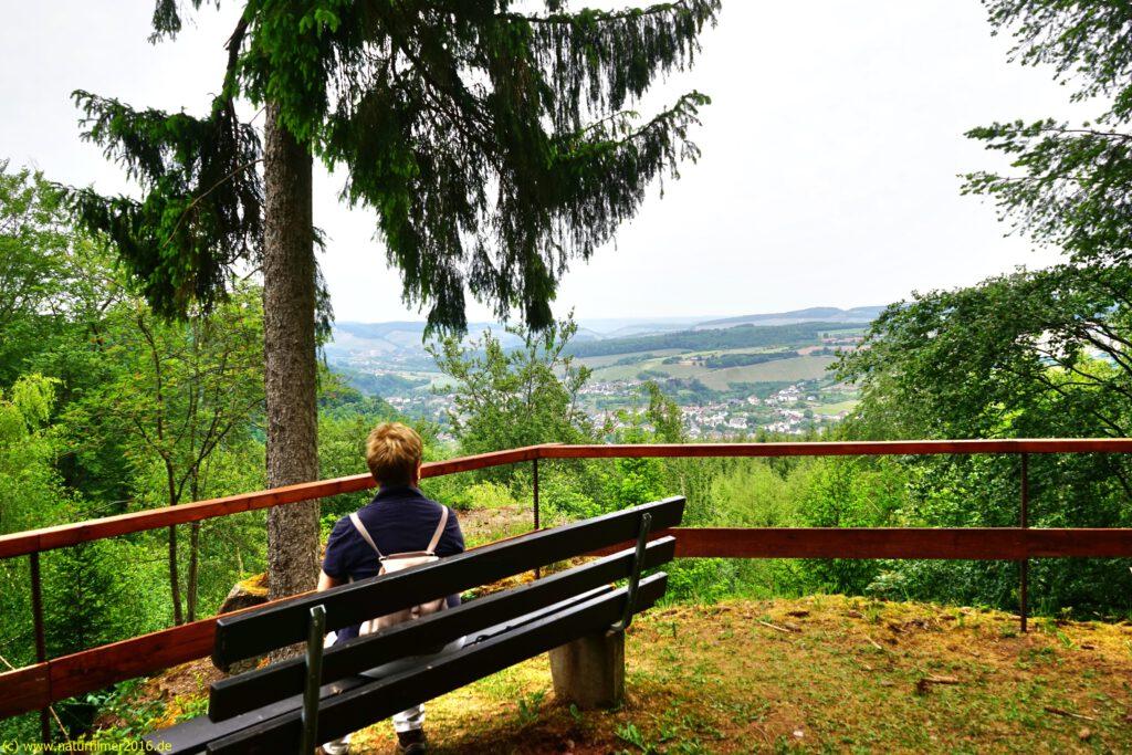 Taben-Rodt, Rundwanderweg Nr. 3, Aussichtspunkt Serrig, Saartal