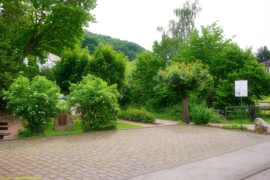 Taben-Rodt, Rundwanderweg Nr. 3, Dorfmittelpunkt, Plakete 634 Testament Grimo, Parkplatz Hotel Rodter Eck, Start