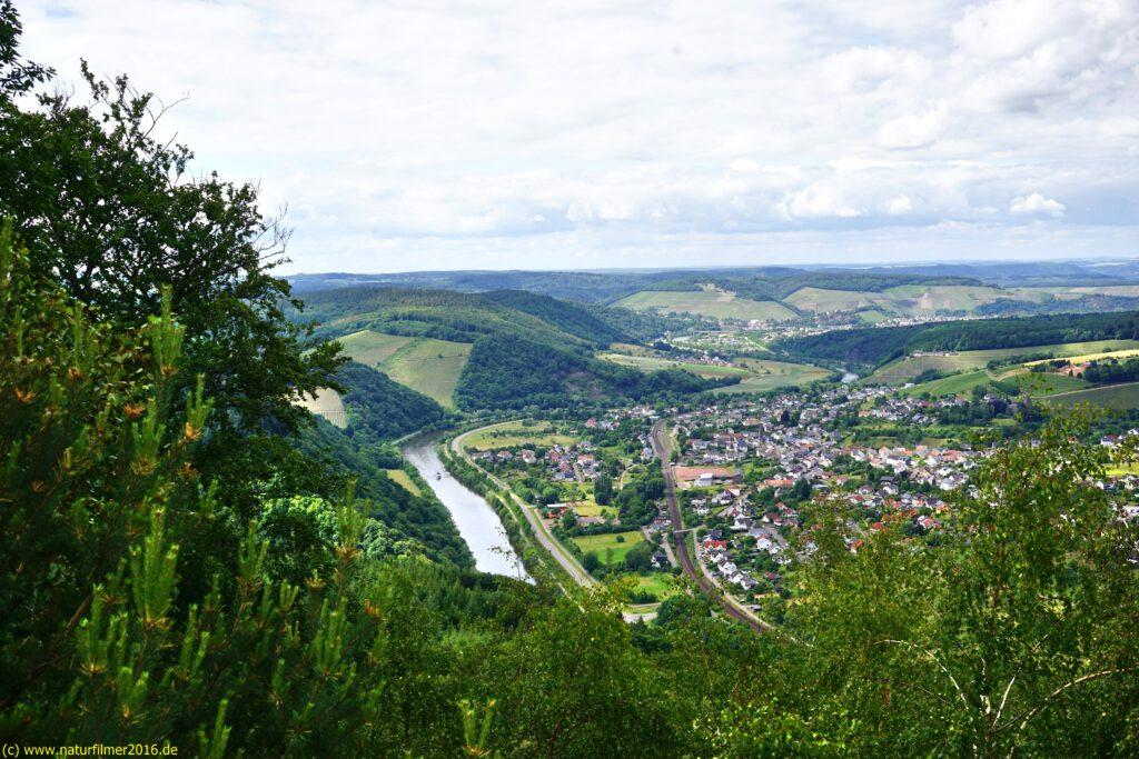 Taben-Rodt, Felsenpfad Maunert, Maunert Grat, Aussicht auf Serrig, Saar, Saarburg, Eifel