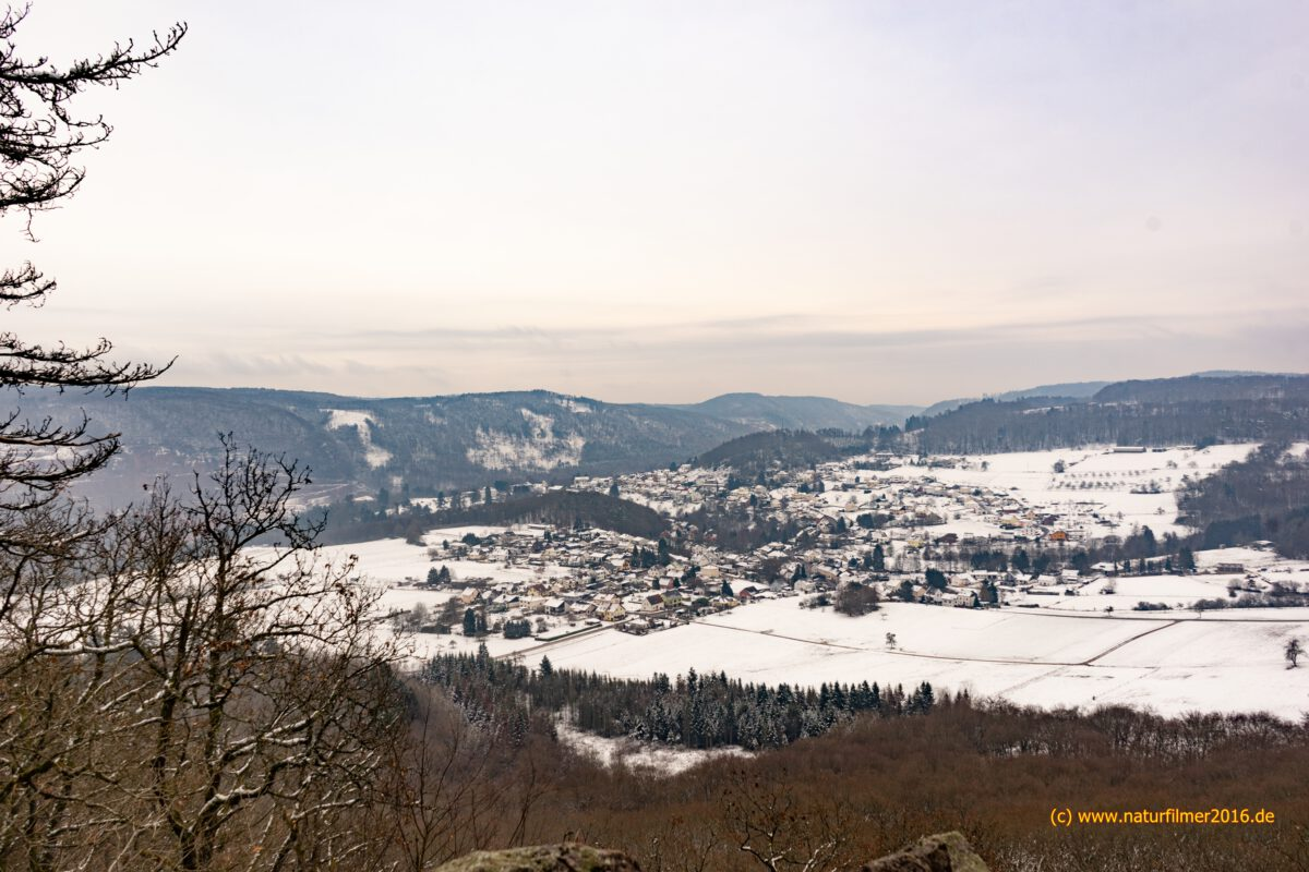 Taben-Rodt im Winter mit Schnee